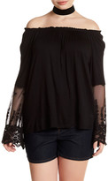 Hip Off-the-Shoulder Shirt (Plus Size)
