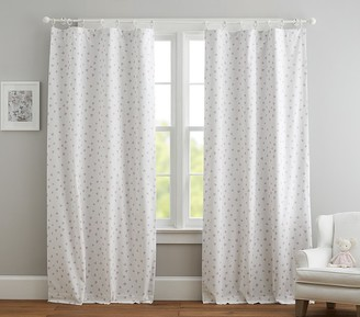 Pottery Barn Kids Printed Heart Blackout Curtain Panel