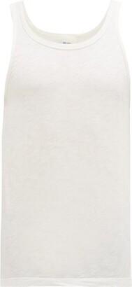 Schiesser Hanno Slubbed Stretch Cotton Jersey Vest - Mens - White