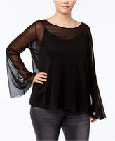 Soprano Trendy Plus Size Mesh Top