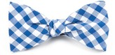 The Tie Bar Royal Blue Classic Gingham Bow Tie