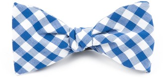 Tie Bar Classic Gingham Royal Blue Bow Tie