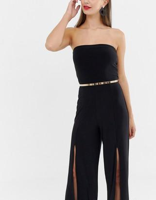 Asos Design DESIGN ultra skinny full metal waist belt-Gold