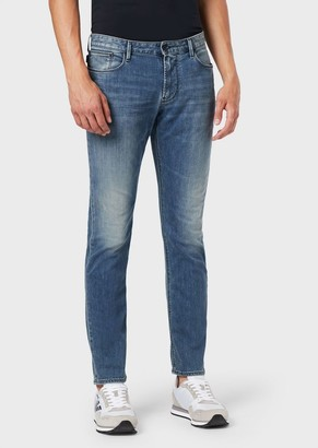 Emporio Armani Slim-Fit J06 Stretch Cotton Denim Jeans