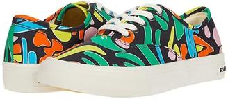 SeaVees Legend Sneaker Hoffman (Black Neon Flower) Women's Shoes