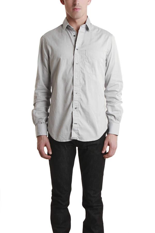 Blue & Cream Blue&Cream Grey Pinpoint Shirt