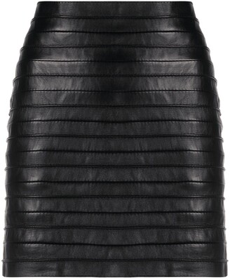 Gianfranco Ferré Pre Owned 1990s Bandage Leather Skirt