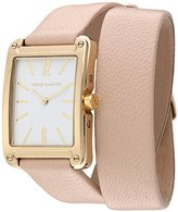 Vince Camuto Women's Quartz Stainless Steel and Leather Dress Watch, Color:Pink (Model: VC/5340WTLP)
