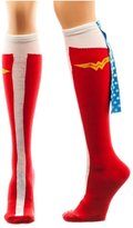 Bioworld Wonder Woman Caped Boot Knee High Socks, sock size 9-11, fits shoe size 5-10