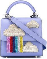 Les Petits Joueurs clouds appliqué glittery tote - women - Leather/PVC - One Size