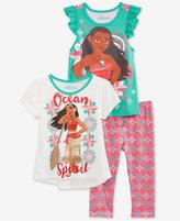 Nannette Disney's® Moana 3-Pc. T-Shirts & Leggings Set, Toddler & Little Girls (2T-6X)