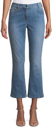 Escada Flared-Leg Crop Jeans