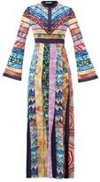 Mary Katrantzou Deznine Swirling-print Pleated Crepe Dress - Womens - Multi