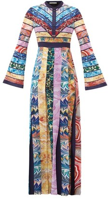 Mary Katrantzou Deznine Swirling-print Pleated Crepe Dress - Womens - Multi