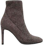 Giuseppe Zanotti Design 90mm Stretch Glitter Lurex Ankle Boots