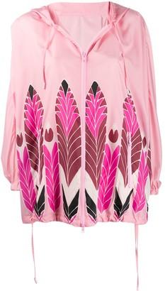 Valentino feather printed raincoat