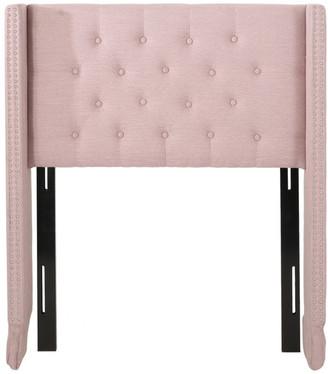 Gdfstudio Durango Contemporary Upholstered Twin Headboard, Light Blush + Black