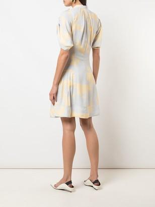 Proenza Schouler Brush print short dress