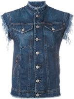 Vivienne Westwood sleeveless denim jacket - women - Cotton - S