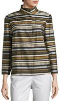 Lafayette 148 New York Vanna Cotton Striped Jacket
