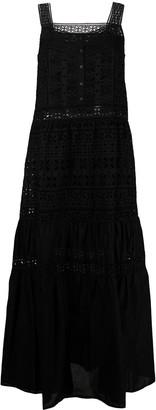 Ermanno Scervino Embroidered-Design Tiered Maxi Dress