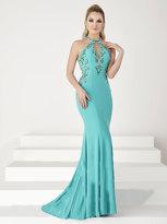 Tiffany Designs - Crisscross Haltered Neckline Mermaid Gown 16180