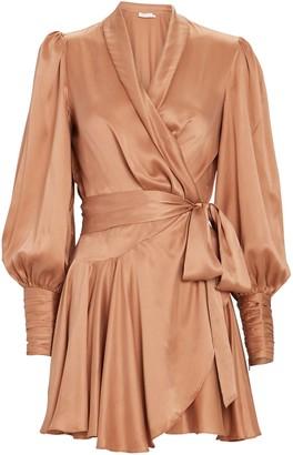 Zimmermann Silk Mini Wrap Dress