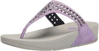 FitFlop Women's Carmel Toe-Post Suede Dress Sandal