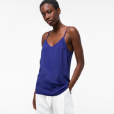 Paul Smith Women's Blue Silk-Blend Camisole Top
