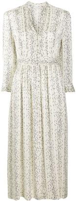 Sandro Graphic-Print Midi Dress