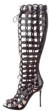 Gianvito Rossi Cutout Knee-High Boots