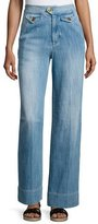 Etoile Isabel Marant Odessa Wide-Leg Denim Pants, Blue