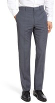 Theory Men's Marlo Flat Front Check Wool Trousers
