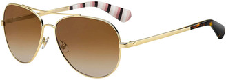 Kate Spade Avaline Mirrored Aviator Sunglasses