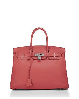 Hermes Birkin 35 Taurillon Clemence Satchel Bag, Orange