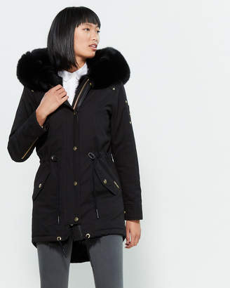 Moose Knuckles Real Fur-Trimmed Hooded Parka