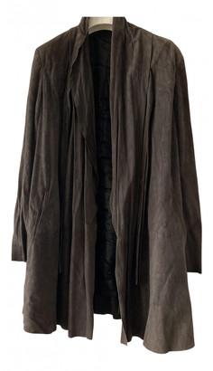 Nicole Farhi Brown Suede Coats