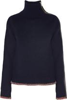 Rag & Bone Sarah zip-embellished cashmere and wool-blend turtleneck sweater