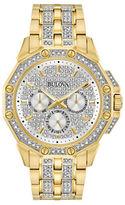Bulova Analog Pave Stainless Steel Bracelet Watch