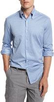 Brunello Cucinelli Solid Long-Sleeve Sport Shirt, Powder Blue
