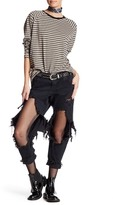 One Teaspoon Genuine Leather Lonely Boy Cropped Jean
