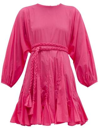 Rhode Resort Ella Cotton-voile Dress - Womens - Pink