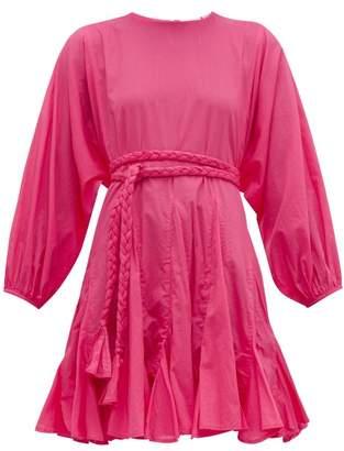 Rhode Resort Ella Cotton Voile Dress - Womens - Pink