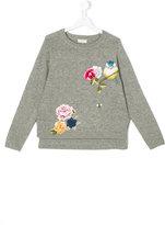 MonnaLisa floral embroidered jumper - kids - Acrylic/Polyamide/Virgin Wool - 13 yrs