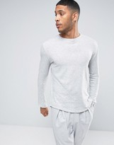 Selected Raw Edge Long Sleeve T-Shirt