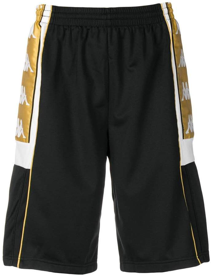 Kappa side logo patch track shorts