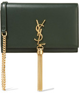 Saint Laurent Monogramme Kate Small Leather Shoulder Bag - Army green