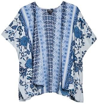 Angie Short Printed Kimono
