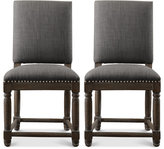 Clayton Set of 2 Dining Chairs, Direct Ship