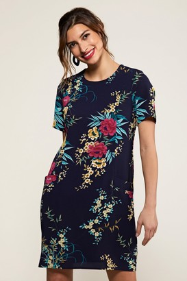 Yumi Oriental Floral Navy Tunic